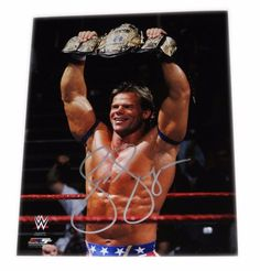 WWE LEX LUGER HAND SIGNED AUTOGRAPHED 8X10 PHOTO FILE PHOTO WITH COA 2