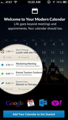 UpTo calendar app #walkthrough screens