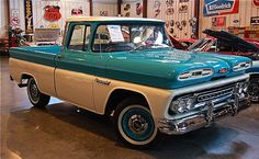 1961 Chevrolet Apache 10 Pick Up - This all original steel truck is a blast to drive and has unbelievable road manors! It is power by a late model 350 with a 350 turbo. The original interior is in fantastic shape and the cab corners too!