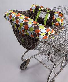 This Brown & Green Shopping Cart Cover is perfect! #zulilyfinds