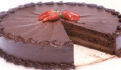 Glacê de Chocolate para Bolos e Cupcakes