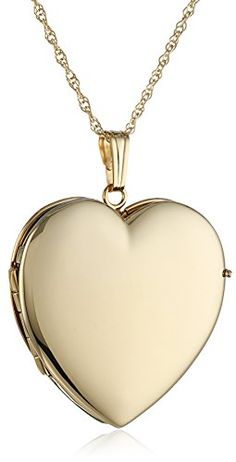 Yellow Gold Polished Heart Locket Necklace, -- Wonderful of your presence to have dropped by to see the photo. (This is an affiliate link) Locket Necklace, Men Necklace, Initial Necklace, Gold Necklace, Pendant Necklace, Necklaces With Meaning, Girls Necklaces, Fashion Jewelry, Women Jewelry