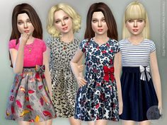 The Sims Resource: Designer dress P52 by lillka • Sims 4 Downloads