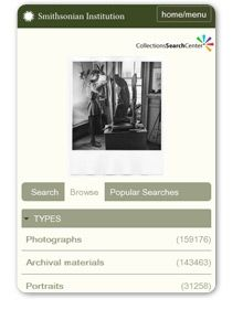 Collections Search Center from the Smithsonian