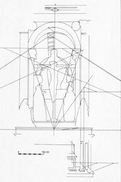 Masaccio, Trinidad de Santa María Novella, Florencia, - : desarrolló la PERSPECTIVA RESUMIENDO SU TRAYECTORIA ANTERIOR Y LAS EXPERIENCIAS DE SUS COETÁNEOS (Donatello). Destaca su capacidad para convertir el MURO en un entorno Tridimensional con una profundidad delimitada por la arquitectura. Sus formas clásicas ofrecían una imagen de arco triunfal adecuada al tema, pero la BÓVEDA DE CAÑÓN CON CASETONES DETERMINABA CON PRECISIÓN EL ESPACIO Y UN MARCO ADECUADA PARA LAS FIGURAS.