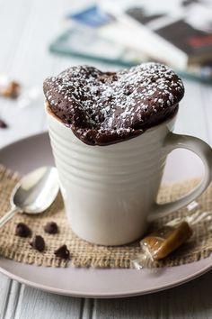 Chocolate Caramel Mug Cake   The Beach House Kitchen