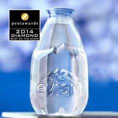The world's leading packaging design competition. This globally accredited award is the definitive symbol of creative excellence in packaging. Water Packaging, Cool Packaging, Food Packaging Design, Beverage Packaging, Bottle Packaging, Packaging Design Inspiration, Evian Water Bottle, Water Bottle Design, Water Bottles