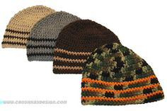 Crochet Patterns Ideas For the guys on your list--Boy Beanie Hat or Skull Cap Free Crochet Pattern - Popular free crochet beanie hat pattern for boys, men and women, from teens to adult, worked in Red Heart Super Saver yarn. Crochet Hats For Boys, Crochet Men, Crochet Gifts, Crochet Baby, Free Crochet, Crochet Skull, Crocheted Hats, Crochet Hearts, Bonnet Crochet