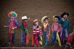 "❦ ""Young Rodeo Clowns [Bull Fighters] in Training"" - cowgirlbootsandpointeshoes Boys Clown Costume, Monster Costumes, Horse Costumes, Toddler Costumes, Family Costumes, Halloween 2016, Halloween Kids, Happy Halloween, Halloween Party"