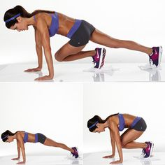 Towel Plank and Knee In