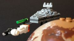 LEGO Micro Pursuit over Tatooine, via Flickr.