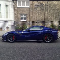 Ferrari F12 TDF painted in Le Mans Blue Photo taken by: @rchanphotography on Instagram