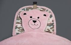 Embroidered teddy bear face  (cammo)