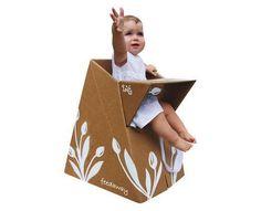 Cardboard high-chair