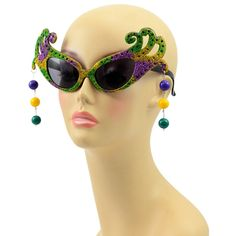 f4cb94a3cd PGG Glitter Swirl Sunglasses with Ball Earrings