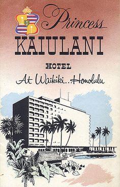 Princess Kaiulani Hotel brochure cover