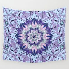 Lavender+Meditation+Kaleidoscope+Wall+Tapestry+by+DebS+Digs+Photo+Art+-+$39.00