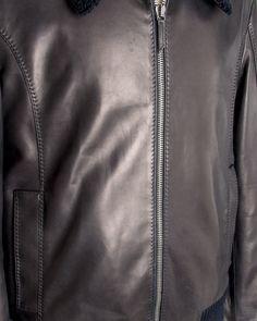 Twilight Blue Leather Jacket
