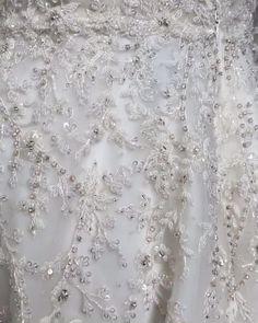 💖 custom detailed beadwork for a wedding dress with long sleeves by Enaura Bridal. #customlongsleeves #detailedweddingdress Popular Wedding Dresses, Wedding Dresses With Straps, Bridal Wedding Dresses, Chic Wedding, Dresses With Sleeves, Silk Fabric, Beadwork, Wedding Designs, Boho Chic