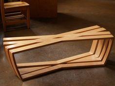 art bench class creative design furniture home industrial bamboo wood furniture
