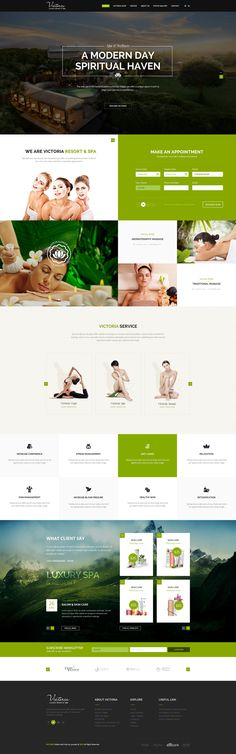 Victoria - PSD template on Behance