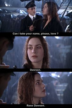 Titanic - This scene makes me cry. Every single time. Titanic - This scene makes me cry. Every single time. Series Quotes, Tv Show Quotes, Film Quotes, Old Movie Quotes, Famous Movie Quotes, Titanic Rose, Rms Titanic, Movies Showing, Movies And Tv Shows