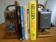 INDUSTRIAL BOOKENDS memette by CraigleithArtDesign on Etsy