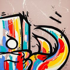 Buy Original Artwork at Artwork Only - Unititled (Rainbow) by Jasper Ash