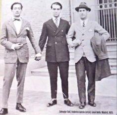 Salvador Dalí, Federico García Lorca y José Bello, Madrid 1925