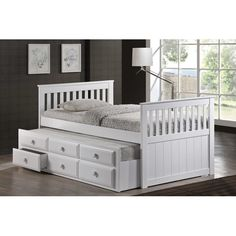 Milton Green Star Riley Captain Bed with 3-Drawer Storage & Reviews | Wayfair