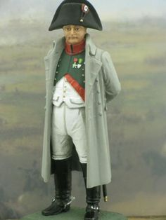 Napoleon year 1810 - historical miniatures, Great Napoleons Bonaparte 54 mm high historical miniature, scale 1/32. The French Emperor is wearing a coat. Year 1810. In year 1810 July 9 Napoleon annexed the Kingdom of Holland.