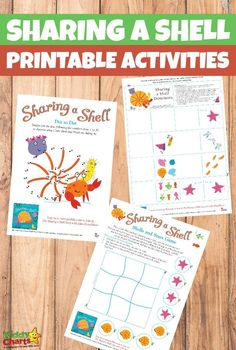 """We are back with another activity pack full of your favourite characters, this time we are sharing a set of wonderful printable SHaring a Shell activities. We hope you already … Read More """"Printable Sharing a Shell activities"""" Eyfs Activities, Beach Activities, Activities For Kids, Teaching Tips, Learning Resources, Sharing A Shell, Julia Donaldson Books, Friendship Theme, Book Area"""