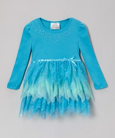 Take a look at this Turquoise & Green Tutu Dress by Beautees on #zulily today!