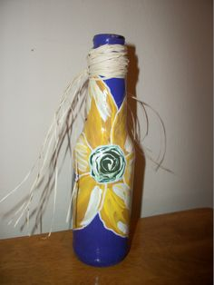 painted bottle front
