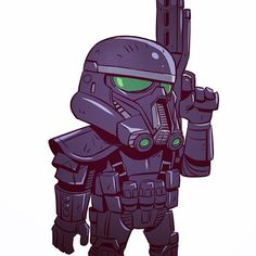 """4,336 Likes, 6 Comments - Derek Laufman (@dereklaufman) on Instagram: """"One of my favs I did for the Star Wars Celebration pin set. Love that Death Trooper design from…"""""""