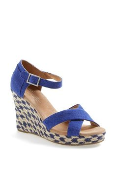 TOMS 'Mixed Rope' Wedge Sandal available at #Nordstrom