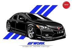 Image may contain: car Cartoon Logo, Honda Civic Type R, Car Illustration, Japan Cars, Car Logos, Car Drawings, Car Engine, Car Wallpapers, Honda Accord