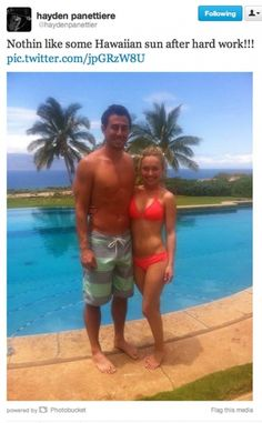 "Hayden Panettiere has tweeted a snap of her amazing bikini body as she holidayed in Hawaii with her boyfriend Scotty McKnight. The couple enjoyed a romantic getaway, with the star telling her followers: ""Nothin like some Hawaiian sun after hard work!!!"" She later tweeted another picture of herself and Scotty spending a lazy day in a hammock."