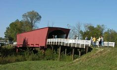Roseman Covered Bridge featured in the movie Bridges of Madison County. Love it!