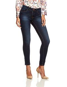 ONLY Damen Jeans Normaler Bund 15077791/SKINNY REG. SOFT ULTIMATE PIM201 NOOS, Blau(Dark Blue Denim), Gr. W34/L34 (XS)
