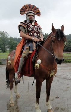 A mounted centurion
