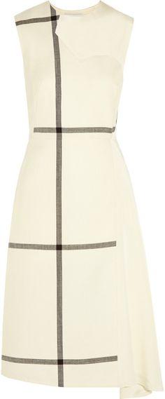 3.1 Phillip Lim Checked wool and washed-silk dress on shopstyle.com.au #DerbyDay #Monochrome #Dress