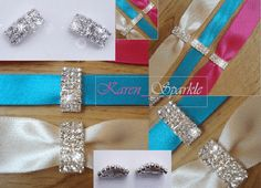 Luxury Clasp Grade A Diamante Rhinestone Ribbon Slider (Buckle)