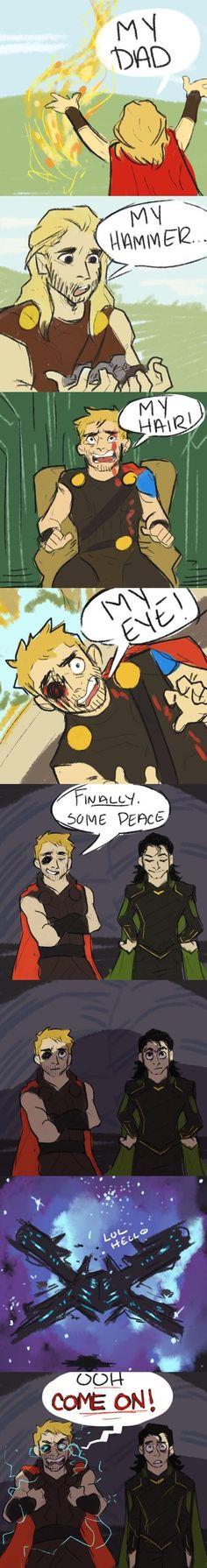 Loki is so scared.