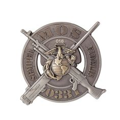 USMC 0331 Machine Gunner Coin  Show your pride in being a Marine Machine Gunner with this good to go coin.  Order Now!  #SgtGrit #Marines