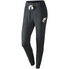 Nike Gym Vintage Training Trousers , Anthracite/Sail ($43) ❤ liked on Polyvore featuring activewear, activewear pants, nike, nike activewear pants, vintage sportswear, nike sportswear and nike activewear