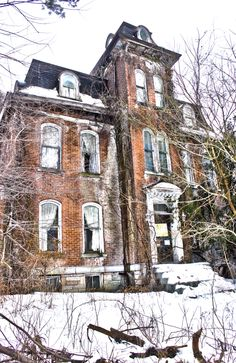 An Abandoned home in Brownsville, Pa. You can see it right from US 40.