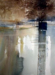 C r e a t i v e W o n d e r: Watercolors of waterscapes . . . so otherworldly to me . . . Xavier Swolfs . Zandhoven . Belgium