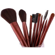 FASH UK 2012 Series Cosmetic Brush Set with Leather Pouch, Nylon, 9-Piece. #beauty, #tool, #makeup, #brushes