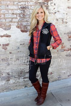 A personal favorite from my Etsy shop https://www.etsy.com/listing/121581817/monogrammed-light-weight-vest